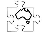 Australia Art Activity, Jigsaw Puzzle Australia Coloring Pages