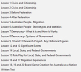 Australia As A Nation. 2 TERM DURATION complete history unit