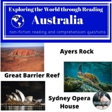 Australia--Ayers Rock, the Great Barrier Reef, Sydney Opera House