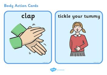 Australia - Body Action Cards