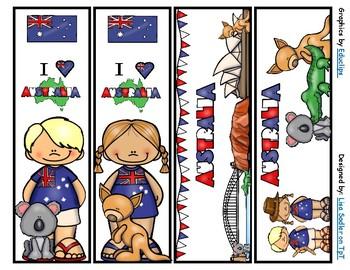 Australia Bookmarks -  4 Designs