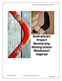 Australia Boomerang History Art Lesson Montessori Grade Pr