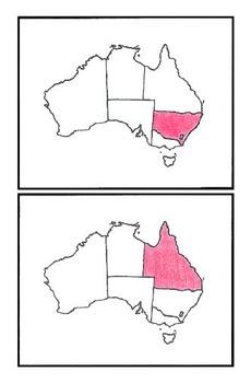 Australia Bundle - Flash Cards & Latitude & Longitude Coordinates Puzzle