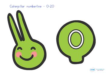 Australia - Caterpillar Number Line 0-20