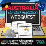 Australia Climate & Vegetation Webquest