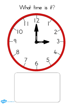 Australia - Clock Matching Game O Clock