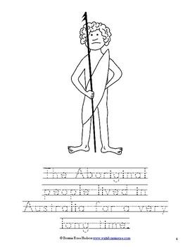 Australia Coloring Book-Level B
