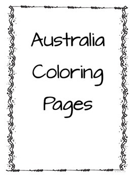 Australia Coloring Pages
