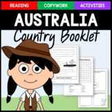Australia Copywork, Activities, and Country Booklet