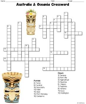 Australia & Oceania Crossword Puzzles