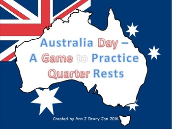 Australia Day - A Game for Practicing Quarter Rests
