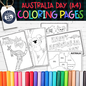 Australia Day Activities | Coloring Pages A4 FORMAT