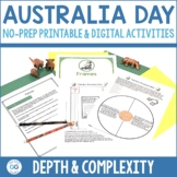 Australia Day Activity Pack | Depth and Complexity | Print