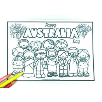 Australia Day Colouring Pages FREE DOWNLOAD