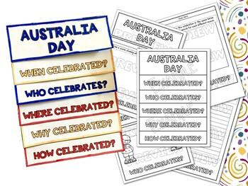 Australia Day Factball, Flipbook and Fact Sheet Activities