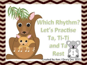Australian Animals - Let's Practise Ta, Ti-Ti and Ta Rest