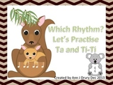 Australian Animals - Let's Practise Ta and Ti-Ti