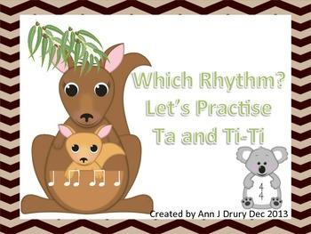 Australian Animals - Let's Practise Ta and Ti-Ti
