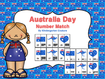 Australia Day Number Match
