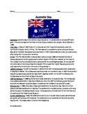 Australia Day Review Article Questions Activities Vocabulary Word Search