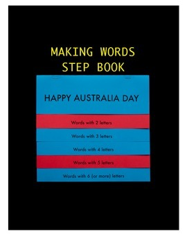 "Australia Day Making Words Step Book Literacy ""Happy Austr"