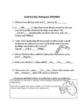 Australia Day Webquest