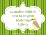 Australia Day - Wildlife Text Matching Activity to Practice Ta and Ti-Ti
