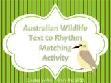 Australia Day - Wildlife Text Matching Activity to Practice Ta and Ti-Ti