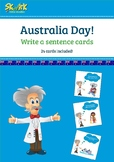 Australia Day - Write a Sentence Cards