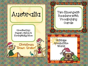Australia Differentiated Emergent Readers With Vocab Cards Holiday Around World