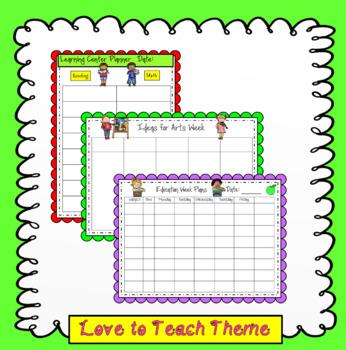The Australian Forever Teacher Planner Love to Teach Theme