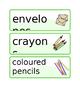 Australia - Editable Writing Area Resource Labels