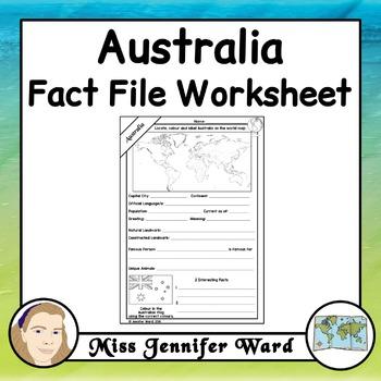 Australia Fact File Worksheet