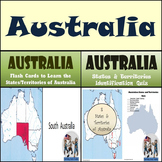 Australia - Flash Cards & Quiz Bundle!