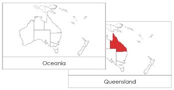 Australia Flash Cards (Red)