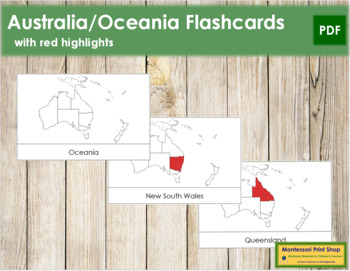 Australia Flashcards (Red)