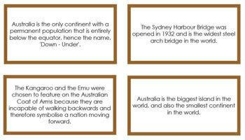Australia Fun Facts (color borders)