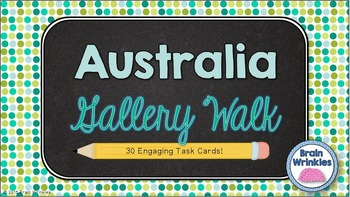 Australia Gallery Walk (Task Cards)