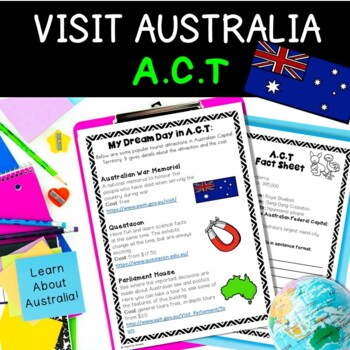 Australia Geography Activities Project: Australian Capital