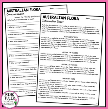 Australia Geography Comprehension Pack