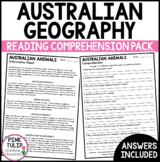 Australian Geography Comprehension Pack
