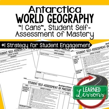Australia Geography I Cans, Self-Assessment of Mastery, Antarctica I Cans