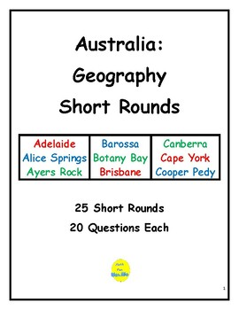 Australia Geography Short Rounds