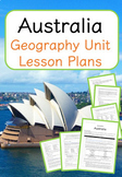 Australia - Geography Unit Lesson Plans