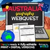 Australia Geography Webquest