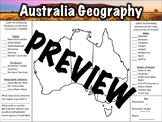 Australia Geography Worksheet