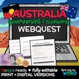 Australia Government & Economy Webquest