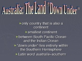 Australia: Government, Geography, Economy, History & People Powerpoint