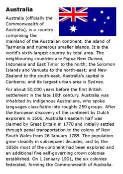 Australia Handout