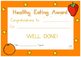 Australia - Healthy Eating Award Certificate